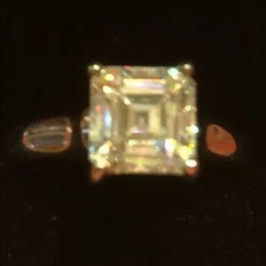 Jewelry - Strontium Titanate Asscher Cut Silver Ring